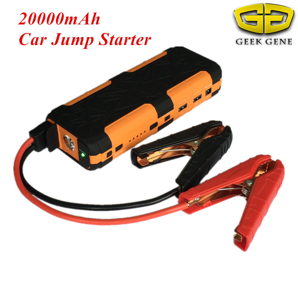 2018 Car Jump Starter Portable 20000mAh 2USB Power Bank Mobile Car Battery Booster Charger Starting Device For Diesel Petrol Car multi function car jump starter for 12v diesel petrol car battery booster charger portable 400a starting devcie power bank led