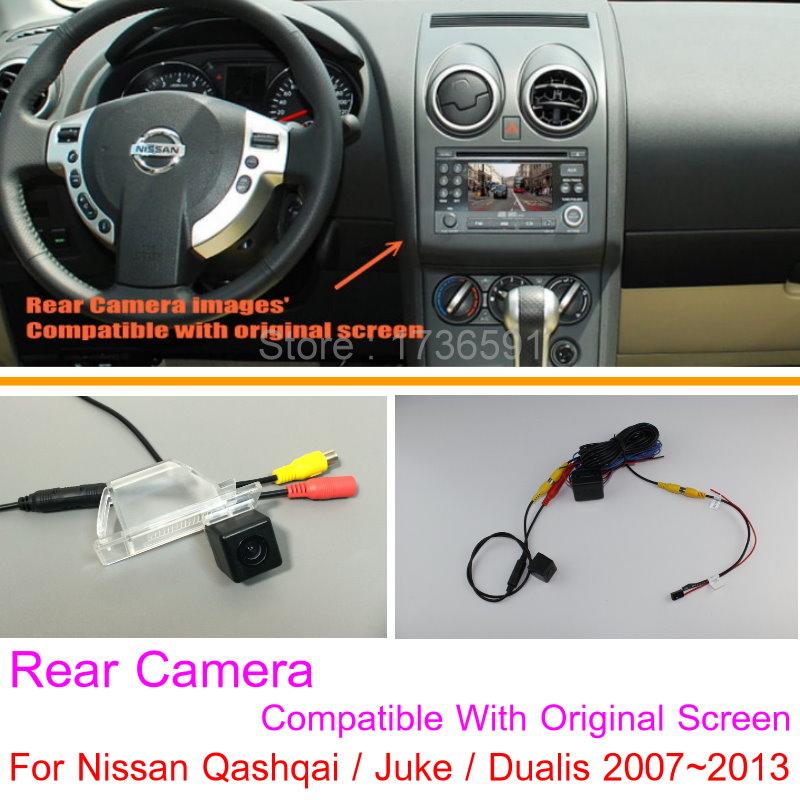 Lyudmila For Nissan Qashqai / Juke / Dualis 2007~2013 RCA & Original Screen Compatible Rear View Camera Back Up Reverse Camera