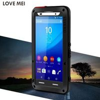 Original LOVE MEI Metal Button Touch ID Dirtproof Shockproof Life Waterproof Metal Case Cover For Sony