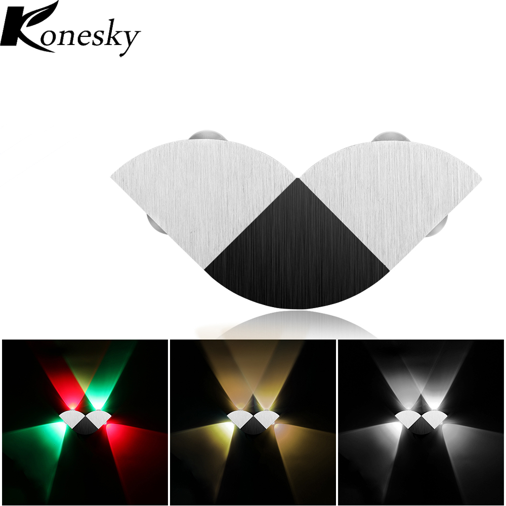 Konesky Aluminum Modern Up Down 4W 4 LED Wall Light for Home ...