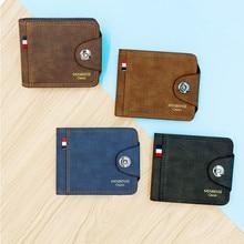 купить Men's wallet Fashion Magnetic buckle Men Wallet Scrub Coin Bag Zipper Small Money Purses Design Dollar Slim Purse Money Clip 546 дешево