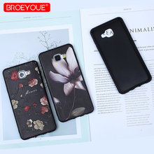 BROEYOUE Case For Samsung Galaxy J3 J5 J7 2016 2017 3D Relief Soft TPU Silicone Flower Case For Galaxy A3 A5 A7 2016 2017 A5 A8 для galaxy a5 2016