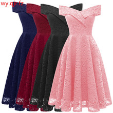 Bridesmaid Dresses Lace Wedding-Toast Pink Gown Clothing Short Neck CD1610 China -Boat