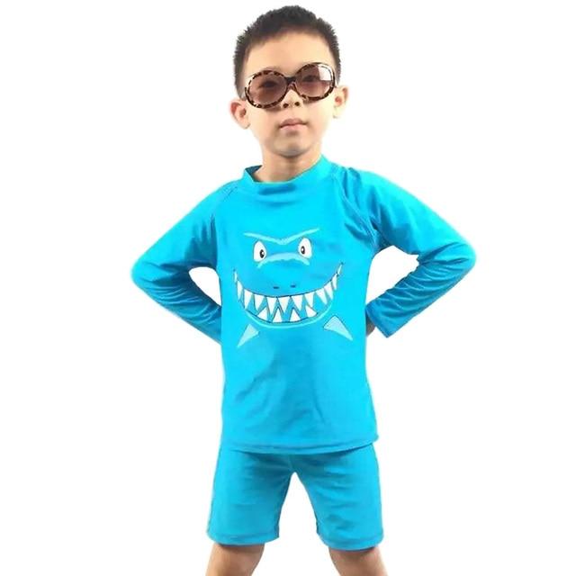 Traje de baño Rash guards protección UV (upf50 +) para niño ropa verano  manga e7101686e43