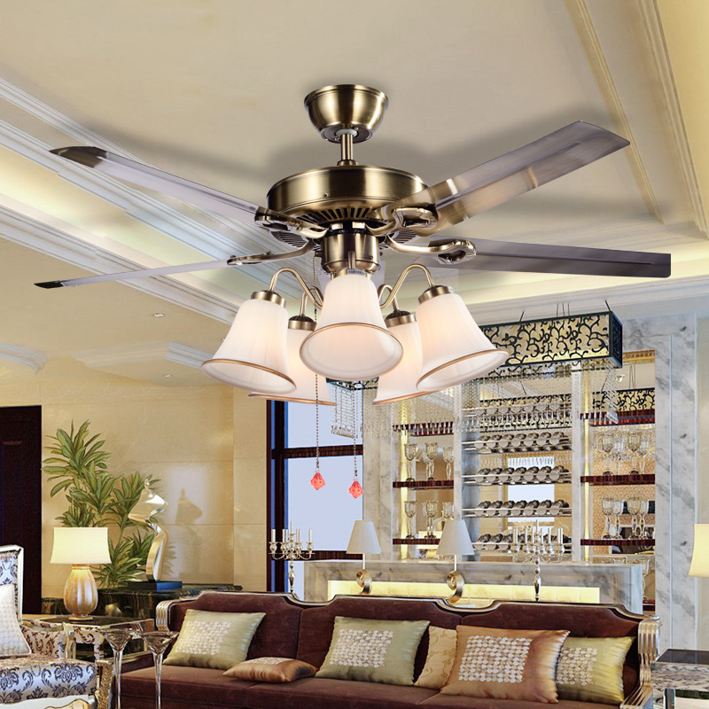 Ceiling Fans With Lights For Living Room: Modern Ceiling Fan Light For Living Room Restaurant
