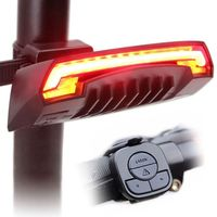2017 Brand New Outdoors LED Smart Bicycle Tail Laser USB Chargeable Light Rear Remote Wireless Turn
