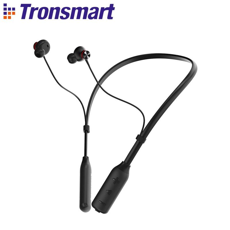 цена Tronsmart Encore S2 Plus Bluetooth earphones Noise Cancelling Headphones IPX45 Waterproof Earphones Wireless Bluetooth Headset онлайн в 2017 году