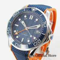 BLIGER Brand Men's Watch With Automatic GMT Movement Date Window Sapphire Glass