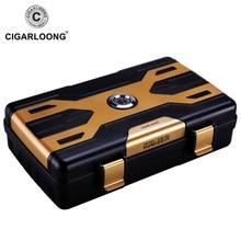 CIGARLOONG Cigar Box travel portable cigar humidor box  case holds 10 cigars CL-093