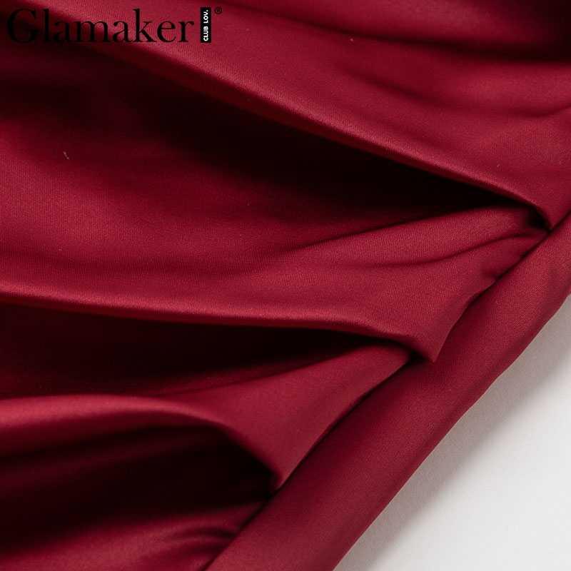 Glamaker сексуальное кружевное сатиновый, пэчворк мини-платье женское с v-образным вырезом прозрачное Элегантное летнее платье женское уличная вечернее платье