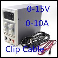 Wholesale 1510D 15V 10A digital adjustable Mini DC Power Supply Switch DC power supply 110/220V 0.1V 0.01A