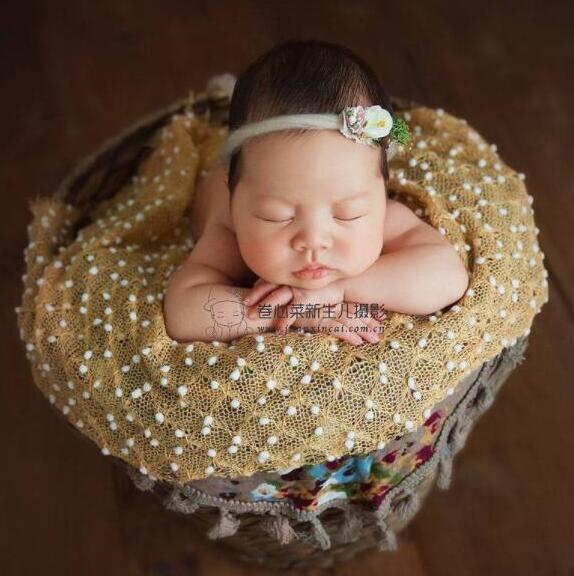 150*100cm malha bobble envolve recém-nascidos fotografia backdrops