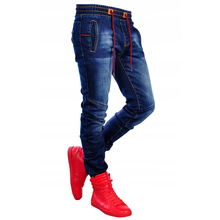 2019 Fashion Mens Jeans Patchwork Trousers with Holes Male D