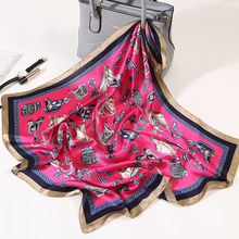 Fashion small Scarf Soft Hair Tie Band Decorative Multifunctional Headscarf Multicolor Stripe  Kerchief Neck square scarf