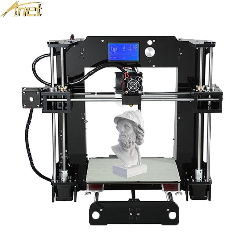 Hot Anet A6 Full Acrylic Frame 3d printer DIY Machine Industrial Extruder Reprap Prusa i3 3D