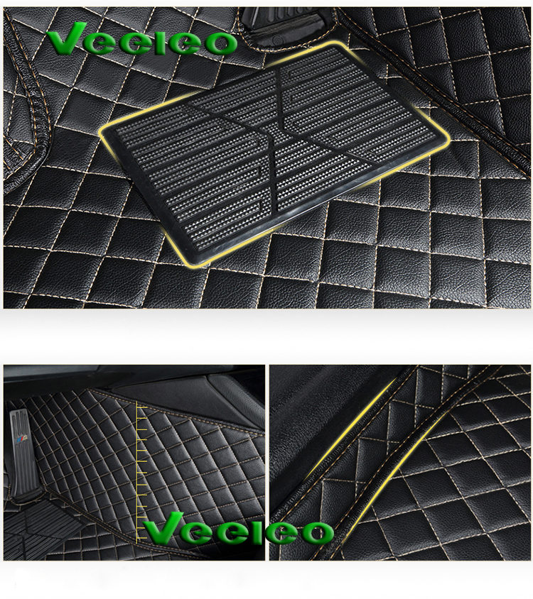 Us 1100 45 Offveeleo 8 Colors Leather Car Floor Mats For Honda Odyssey 3 Rows 2009 2013 Car Mats Waterproof Non Slip Carpet Front Rear Liner In