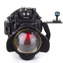 Meikon 40M/130ft Waterproof Underwater Camera Housing Diving Case for Olympus E-M5 II + Fisheye Lens+ handle+Red Filter