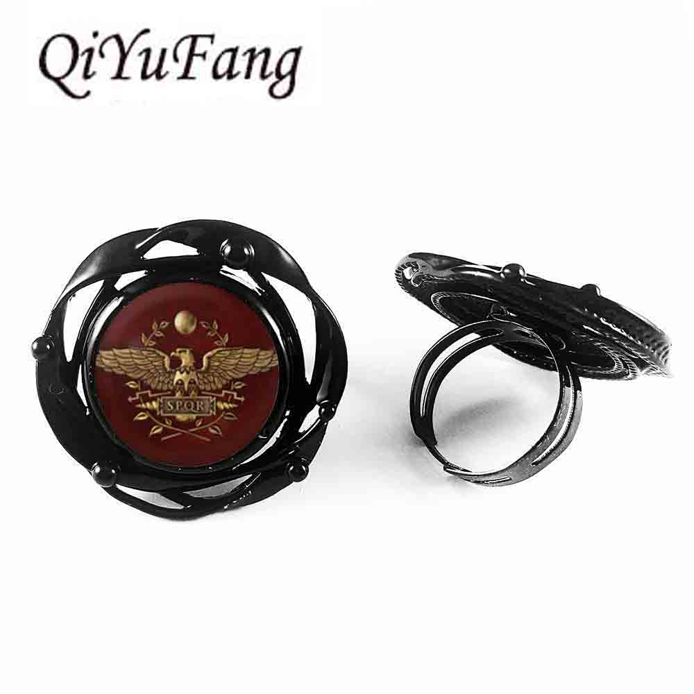Game Gamer Total War Rome flower big ring Jewelry women men gift vintage antique charm vintage 2017 doctor who image