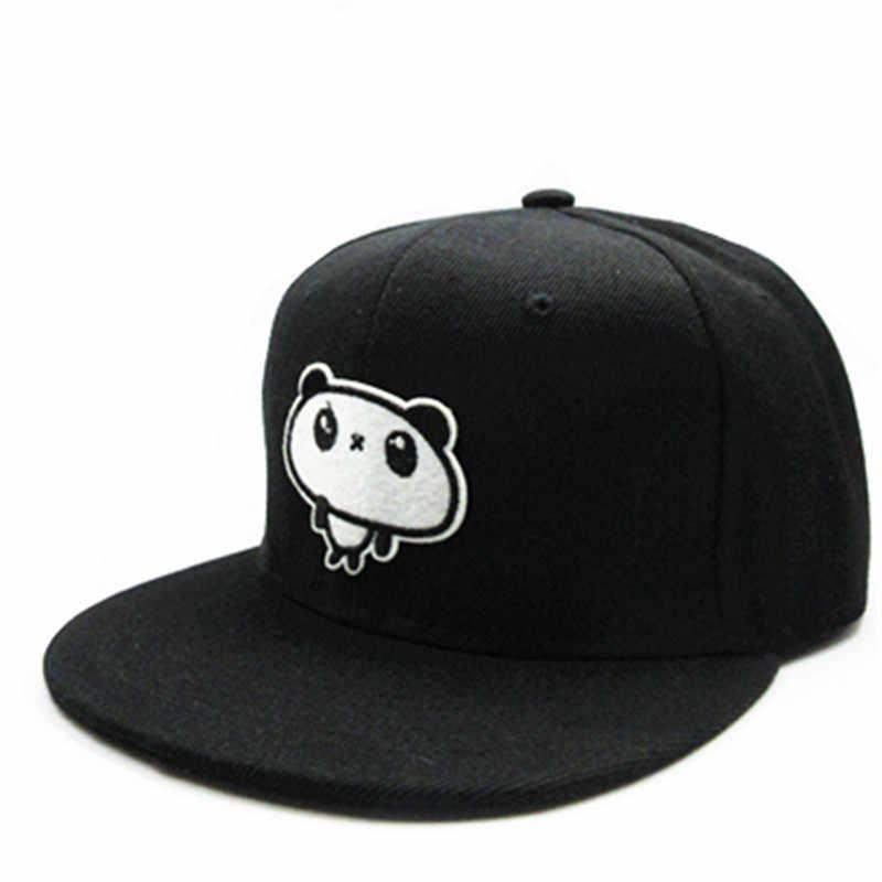 LDSLYJR 2018 Cartoon große panda stickerei baumwolle Baseballmütze hip-hop-kappe Einstellbare Hysterese Hüte für kinder und erwachsene größe 179