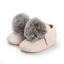 2018 Brand Newborn Baby Girls Pom Pom Shoes