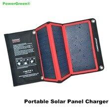 Thin Folding Solar Panel 21 Watts PowerGreen Waterproof SUNPOWER Solar Power Bank Jump Starter Charger for Mobile Phone