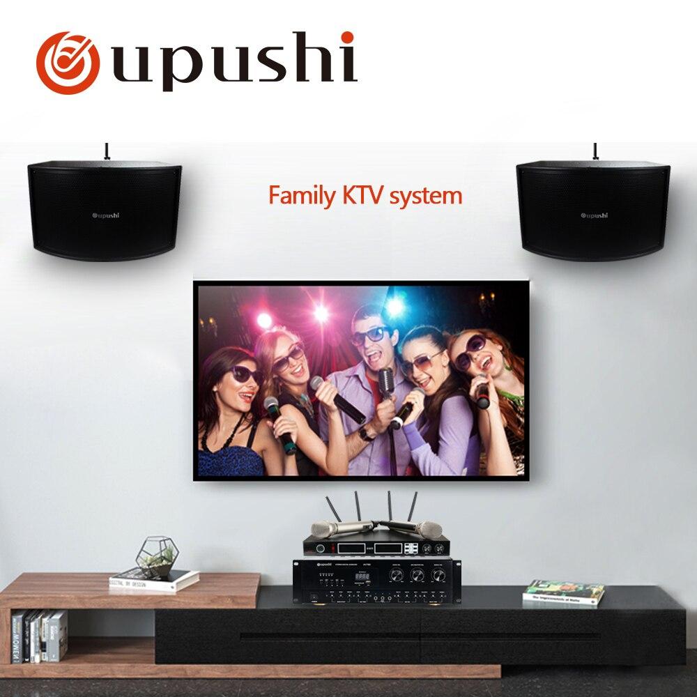 Oupush i AV760N + KB10 + HU386 amplificateur haut-parleur et micphone utiliser un système de cinéma maison système de chant familial système KTV