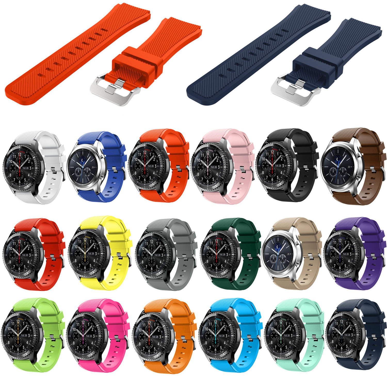 1c5e52f607f Acessórios inteligentes para Amazônia Stratos Cinta 22mm Relógio Banda para  Xiaomi 1 2 Amazônia Ritmo Substituição Banda de Silicone para engrenagem S3