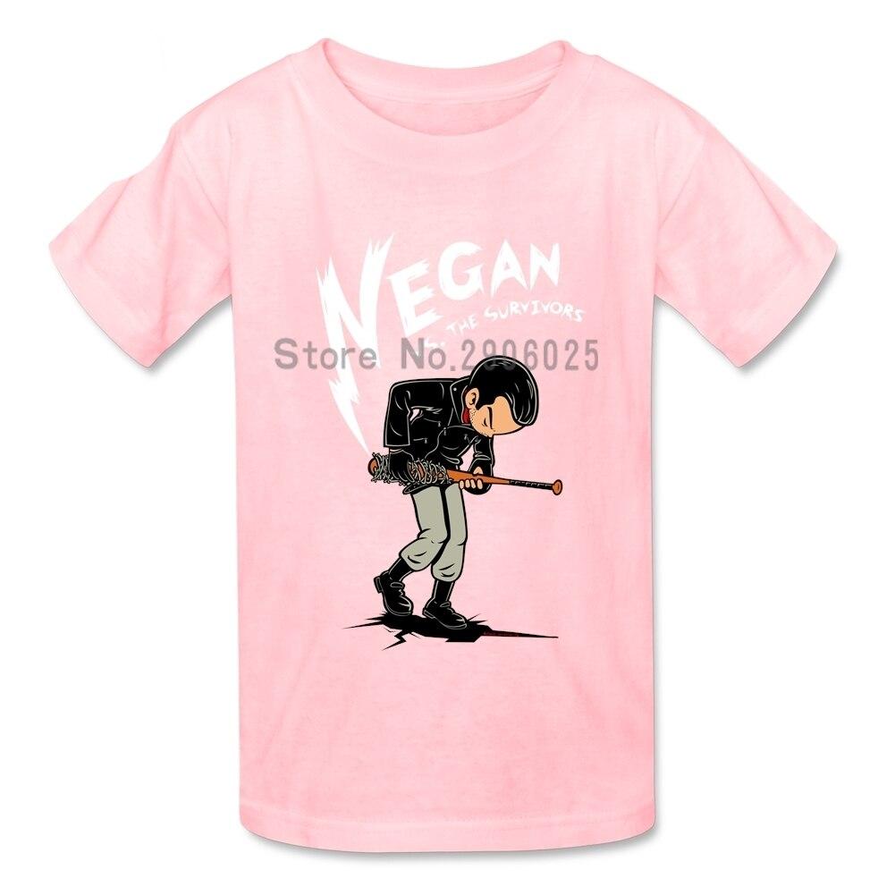 Negan Versus The Survivors T Shirts girl Short Sleeve 4T-8T T-Shirt children Custom Made Tshirts Top Clothes For Boys Girls
