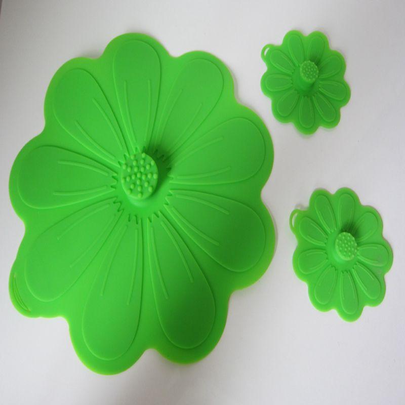 Lidtastic Flower Silicone Powerful Suction Leak Microwave Plastic Dust Cover Lidtastic Multi Puzpose Silicone Lids