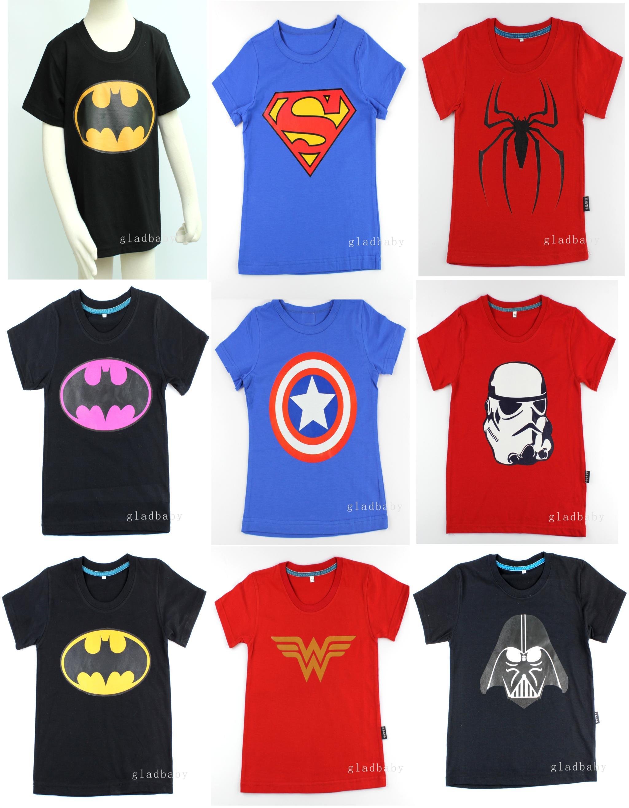 Compra Niños superhéroe camisetas online al por mayor de