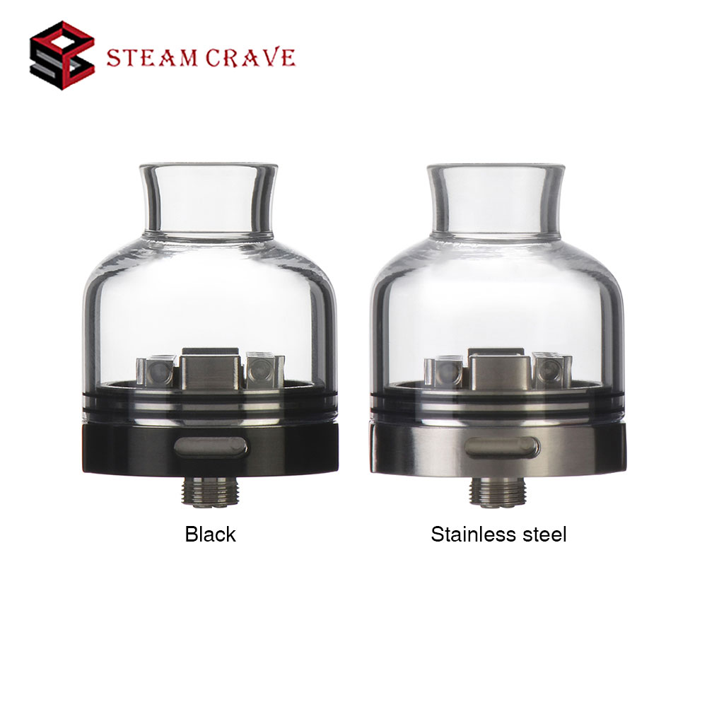 New Steam Crave Glaz RDSA Tank RDA 30mm Large Deck Rebuildable Dripping Atomizer Bottom Airflow & Pure Glass Top Cap Vs RDA/ RTANew Steam Crave Glaz RDSA Tank RDA 30mm Large Deck Rebuildable Dripping Atomizer Bottom Airflow & Pure Glass Top Cap Vs RDA/ RTA