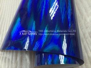 Image 5 - 3 M/5 M/10 M/15 M/20 M PARA A ESCOLHA New arrival holográfica cromo envoltório película holográfica rainbow film com bolhas de ar livre