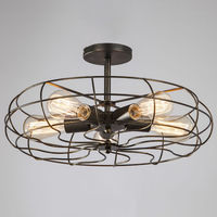 Vintage Retro Industrial Fan Ceiling Lights American Country Kitchen Loft Lamp Iron Material Install 5pcs E27