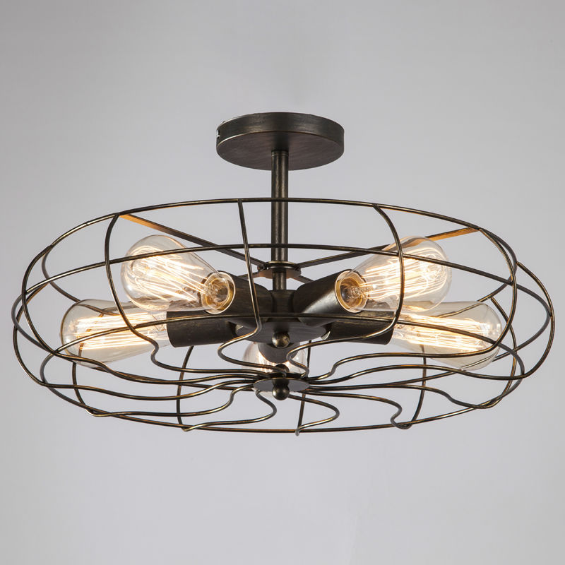 Kitchen Fans With Lights: Vintage Retro Industrial Fan Ceiling Lights American