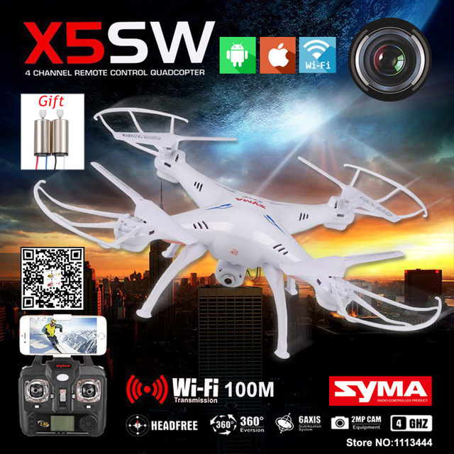 SYMA X5SW Quadcopter Selfie Drone With Camera HD FPV Quadrocopter Micro Dron Rc Helicopter Baby Toys For Children Helikopter