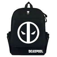 Deadpool Super Hero Comic Canvas Backpack Laptop Bag School Bag Shoulder Bag Travel Cosplay Bag With Earphone hole Durable