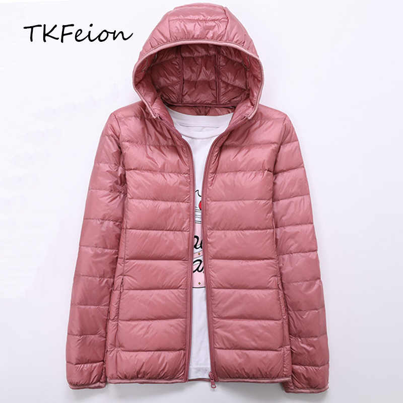 97d95b0a6738 Detail Feedback Questions about Spring Autumn Womens Jackets Ultra Thin and  Light Fashion Ladies Casual Down Coats Red Pink Black Female Hooded Jacket  Coats ...