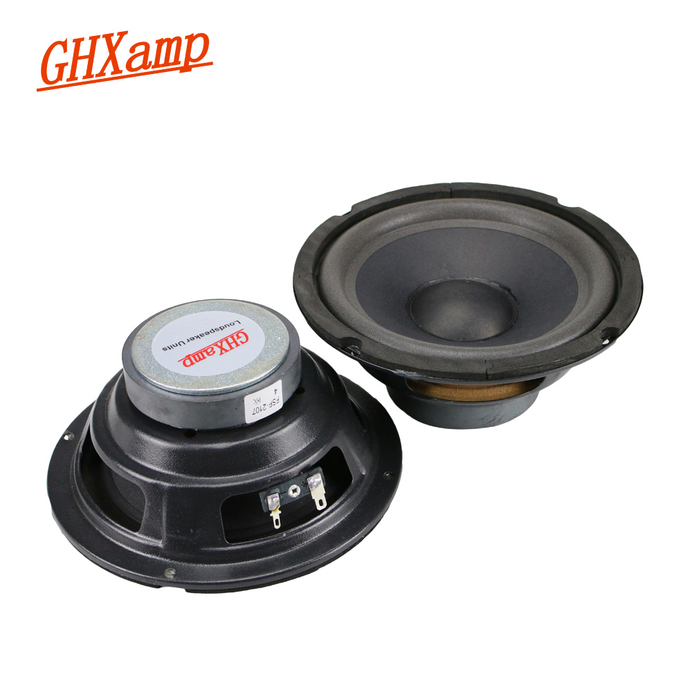 GHXAMP 6.5 inch Mid Bass Speaker Unit 8ohm 60W Subwoofer Loudspeaker For Car Audio Modification Bubble Edge 2PCS ghxamp 6 5 inch full range speaker coaxial horn car speaker unit 8ohm 30w neodymium car audio loudspeaker 2pcs