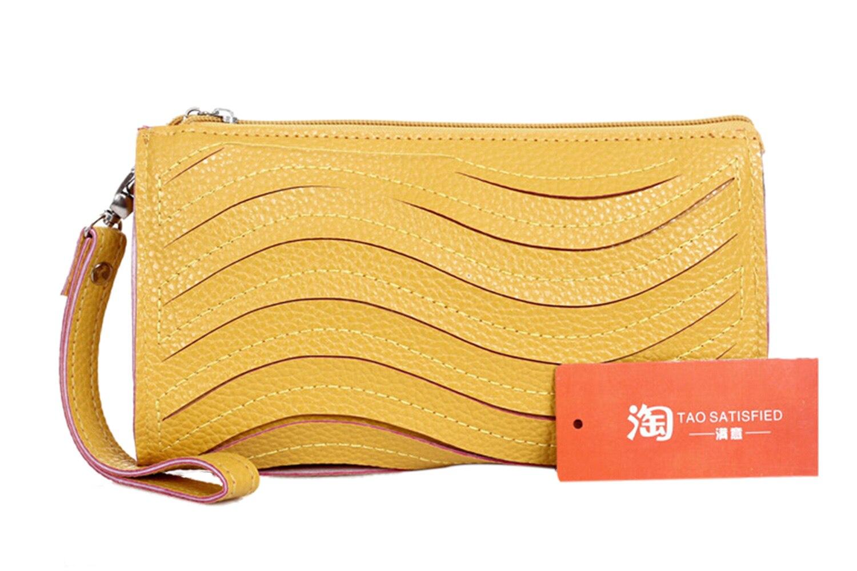 Fashion Women Clutch Bag Umka women's Natrual Leather Handbag  women's Purse Wallet Small Shoulder Messenger Bag Yellow отвод baxi dn 80 эмалированный 45 градусов khg 714018110