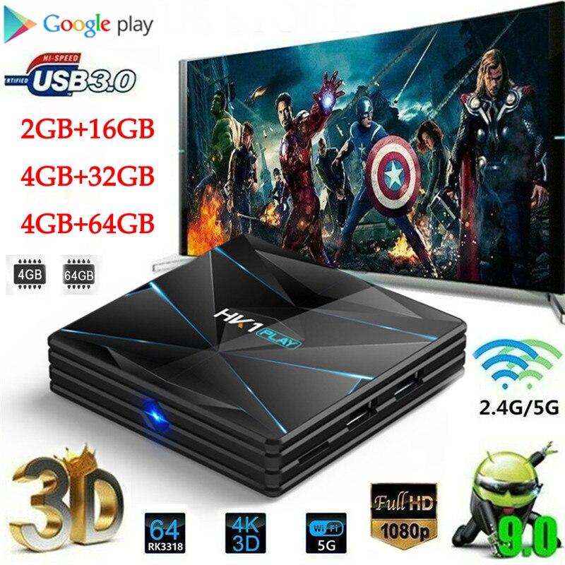מחשבי וברזי השקיה Android9.0 HK1 MAX 4K HD Smart TV Box 2 / 4GB + 16/32 / 64GB Dual wif 3D Smart Media Player (3)