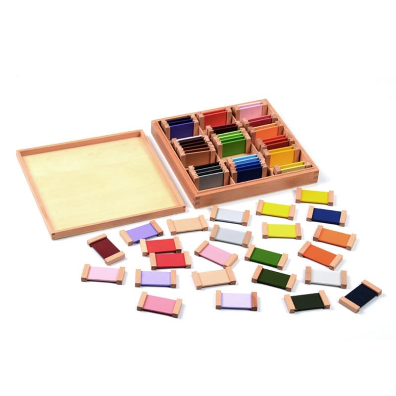 Bébé Jouet Montessori Bois Couleur Tablet 3rd Boîte de La Petite Enfance L'éducation Préscolaire Formation Enfants Jouets Brinquedos Juguetes - 2