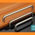 Paso del orificio de 64mm/96mm/128mm/160mm/192mm mango de acero inoxidable Cocina muebles manijas armario manija manija del cajón