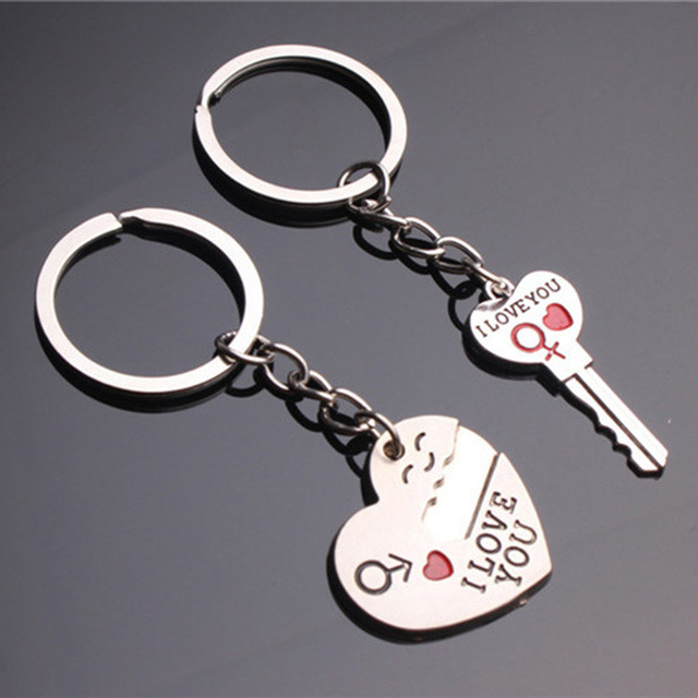 Online Shop 1 Pair Key to My Heart Keychain Wedding Favors Gifts ...