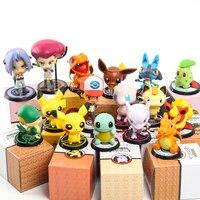 6pcs/set takara tomy pokemon figura toy 5 10cm with box anime pokemon figures pvc action figfure model doll toy set kids gift