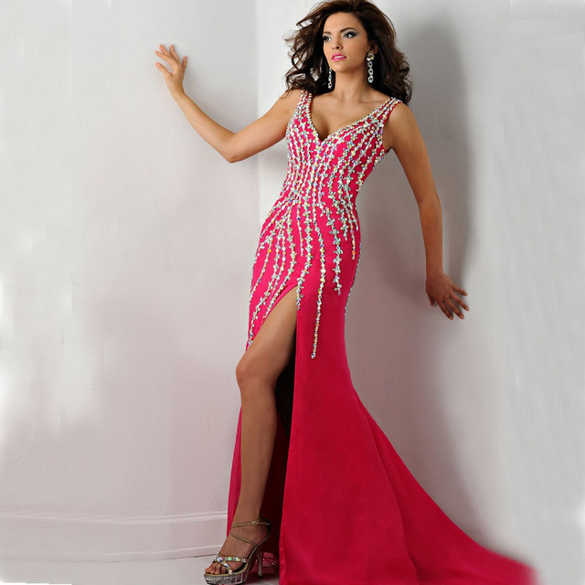 Popular Red Beaded Dress-Buy Cheap Red Beaded Dress lots from ...
