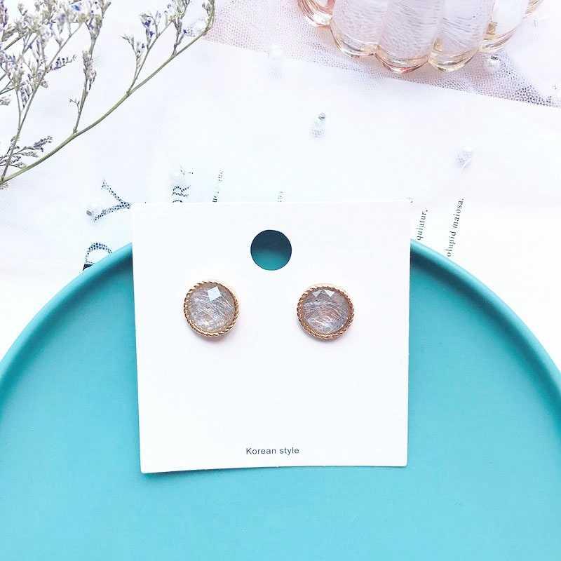 2019 nuevo estilo geométrico Stud pendientes para mujeres coreano estudiante elegante chica fiesta joyería regalo boucle d'oreille femme