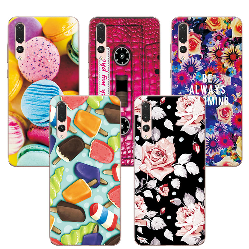 Lovely Fashion Art Painted Cases Coque For Huawei P20 Pro Soft Silicone Fundas For Huawei P20