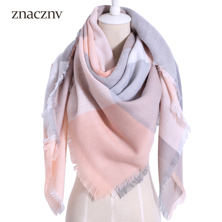 2017 Winter Brand Plaid Women Warm Acrylic Scarf Oversized Square Blanket Wrap Long Wool Shawls and Scarves