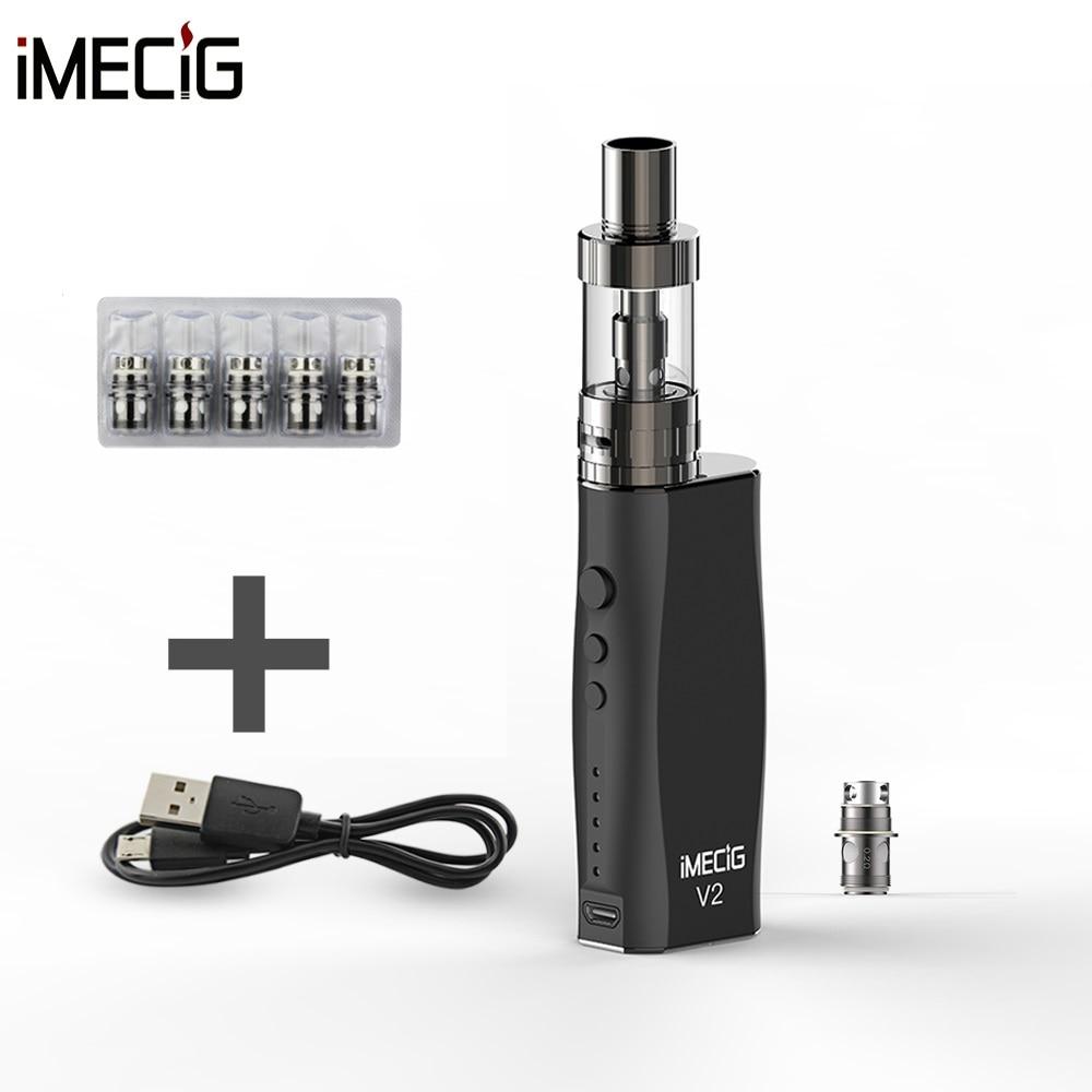 IMECIG V2 50W Vape Box Mechanical Mod E Cigarette kit 3.0ml Atomizer Tank and Extra 5pcs 0.2ohm Coil mechanical mod for e cigarette