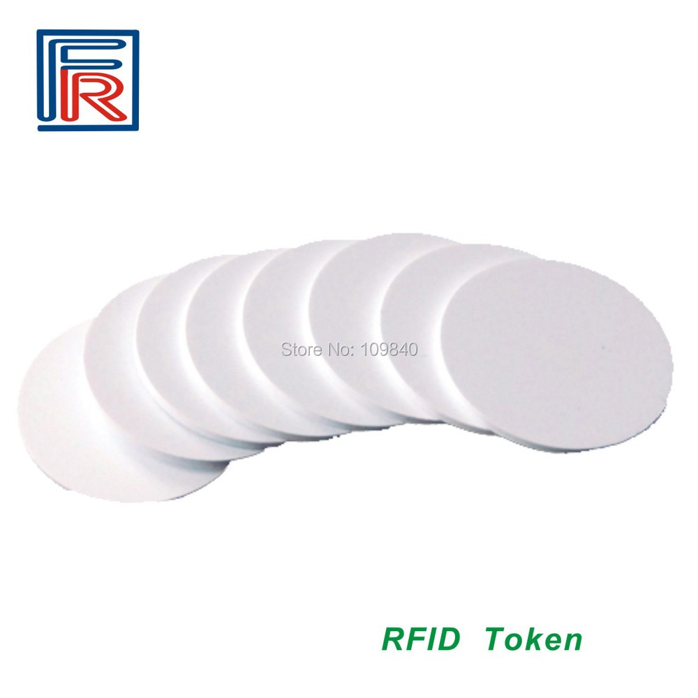 Free shipping 13.56MHz RFID PVC Token tag with Compitable M1 S50 chip ISO14443A 25mm Diameter 100pcs newest ktag v2 13 unlimited version high quality k tag master ecu programming tool k tag hardware v6 070 with free shipping